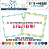 Hipster Doodle Frames: Style #3 Clipart Set