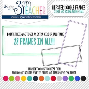 Hipster Doodle Frames: Style #5 Clipart Set