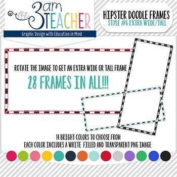 Hipster Doodle Frames: Style #6 Clipart Set