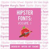 Hipster Fonts: Volume 1