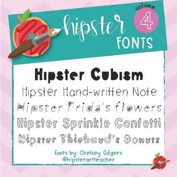 Hipster Fonts: Volume 4
