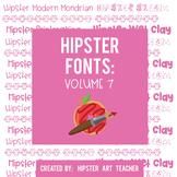 Hipster Fonts: Volume 7