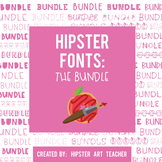 Hipster Fonts: the GROWING Bundle