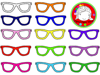 Hipster Glasses Clipart (Personal & Commercial Use)