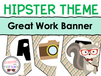 Hipster Great Work Banner