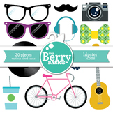 Hipster Icons- 30 Pack