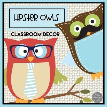 Hipster Owls Classroom Decor