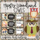 Hipster Woodland Owls EDITABLE Job Chart