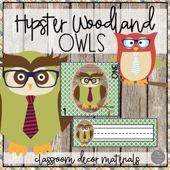 Hipster Owls Decor