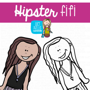 Hipster Teens Clip Art (Lucy Phyllis Illustrations)