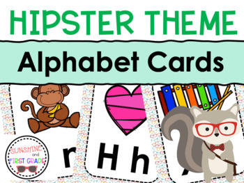 Hipster Themed Alphabet Cards