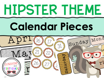 Hipster Themed Calendar Pieces