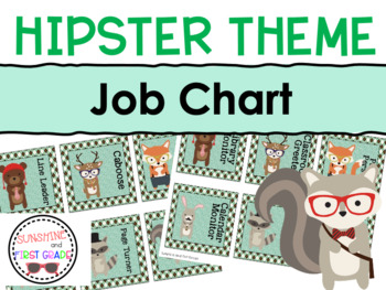 Hipster Themed Editable Job Chart Pieces