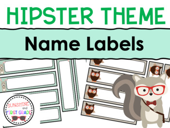 Hipster Themed Editable Name Labels