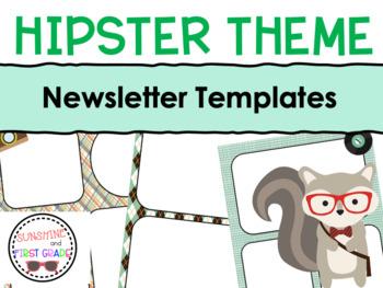 Hipster Themed Editable Newsletter Templates