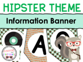 Hipster Themed Information Banner