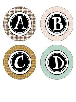 Hipster Themed Letter Tiles