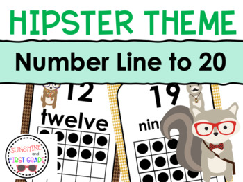 Hipster Themed Number Line