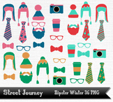 Hipster Winter Clip Art Collection 36 PNG with transparent