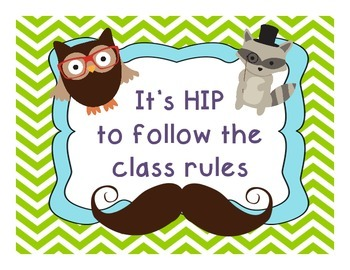 Hipster Woodland Animal Class Rules