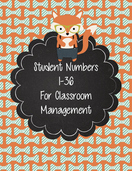 Hipster Woodland Animal Numbers 1-36 for Student Organization
