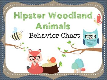 Hipster Woodland Animals Behavior Chart