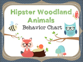 Hipster Woodland Animals Behavior Chart