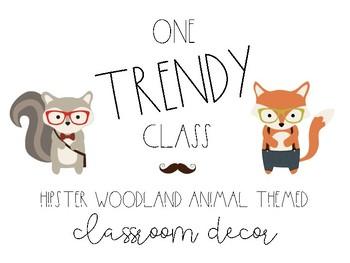 Hipster Woodland Classroom Decor Bundle
