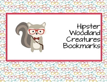 Hipster Woodland Creatures Forest Animal Student Bookmarks