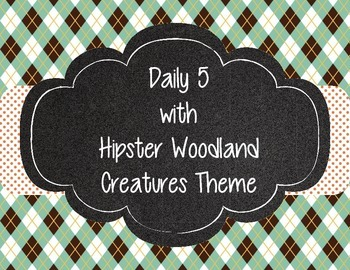 Hipster Woodland Creatures Forest Animals Daily Five (5)