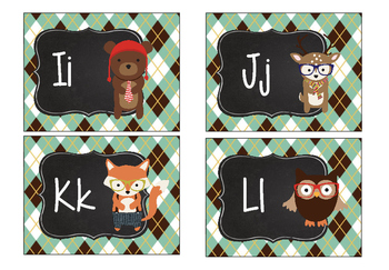 Hipster Woodland Creatures Forest Animals Word Wall Letters