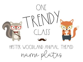 Hipster Woodland Name Plates