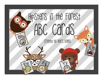 Hipsters in the Forest - ABC Cards by Bee's Knees
