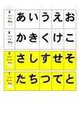 Hiragana Belt Grading [Base Chart] DDJ (C)