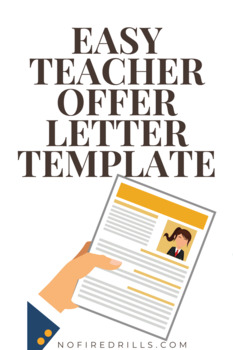 """Offer Letter Template"" For Hiring a Teacher or Administrator - Human Resources"
