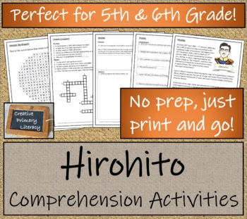 Hirohito - 5th & 6th Grade Close Reading Activity