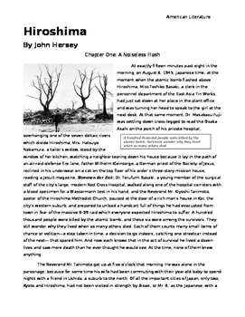 hiroshima by john hersey chapter summaries