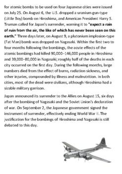 Hiroshima Bombing Handout