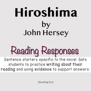Hiroshima Reading Responses