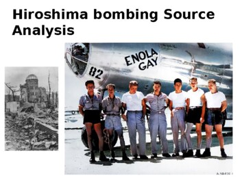 Hiroshima Source Analysis Activity