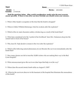 Hiroshima Test Questions