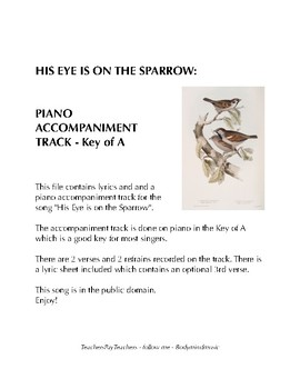 His Eye is on the Sparrow - Key of A