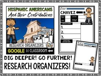 Hispanic Americans Biography Report & Informational Writing: Google Classroom