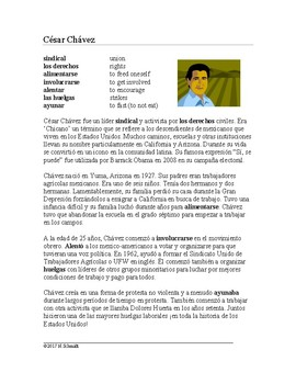 Hispanic Americans Spanish Reading Bundle - 5 Biographies!