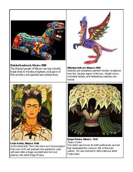 Hispanic Art- Randomized Seating Assignment Cards