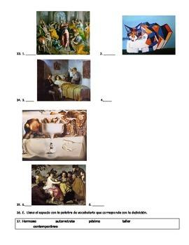 Hispanic Artist and Art Vocabulary test