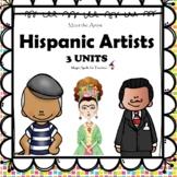 Hispanic Artists - Famous Artists Art Unit - Dali - Frida Kahlo - Picasso BUNDLE