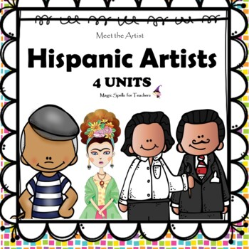 Hispanic Artists II - Dali -Kahlo - Picasso -Rivera Lit Unit Printables  BUNDLE