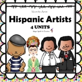Hispanic Artists II - Dali -Kahlo - Picasso -Rivera Lit Unit Printables  BUNDLE