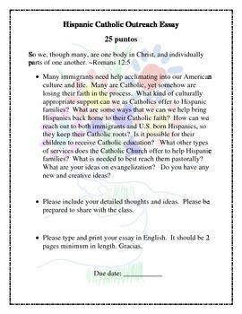 Hispanic Catholic Outreach Essay
